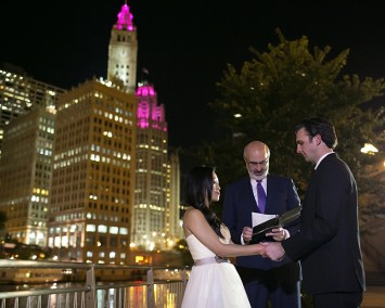 chicago elopement at night