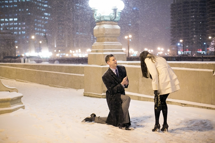 Ally Bill Downtown Chicago New Years Eve Proposal Chicago